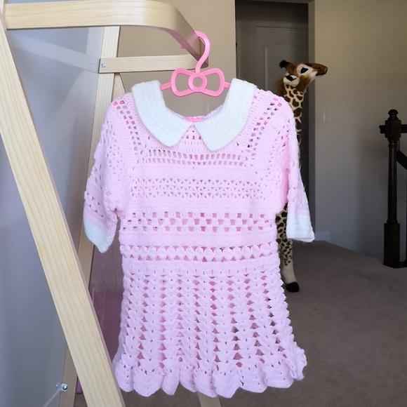 Homemade Dresses Super Cute Handmade Crochet Toddler Dress Poshmark